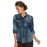 Women's Dana Buchman Nailhead Camp Shirt