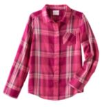 Girls 4-10 Jumping Beans® Long Sleeve Sparkle Button-Front Shirt