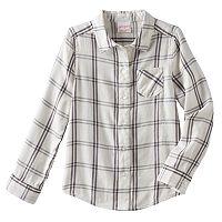Girls 4-10 Jumping Beans® Long Sleeve Sparkle Button-Front Shirt