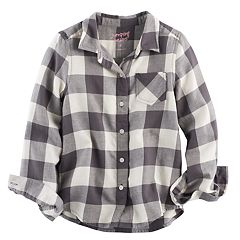 Girls 4-10 Jumping Beans® Long Sleeve Woven Button-Front Shirt