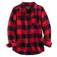 Girls 4-10 Jumping Beans® Long Sleeve Woven Button-Front Shirt