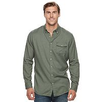 Men's SONOMA Goods for Life™ Modern-Fit Flexwear Stretch Flannel Button-Down Shirt