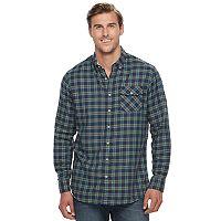 Men's SONOMA Goods for Life™ Modern-Fit Flexwear Stretch Flannel Button-Down Shirt