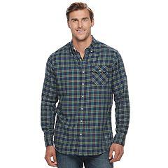 Big & Tall SONOMA Goods for Life™ Modern-Fit Flexwear Stretch Flannel Button-Down Shirt
