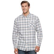 Big & Tall SONOMA Goods for Life™ Modern-Fit Flexwear Stretch Flannel Button-Down Shirt