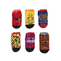 Boys Five Nights At Freddy's 6-Pack Low-Cut Socks