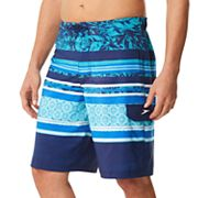 Men's Speedo Assemble Stripe E-Board Swim Trunks