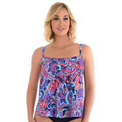 Women's Upstream Pleated Underwire Tankini Top