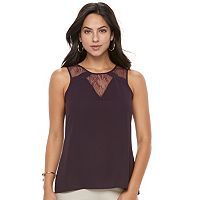 Women's Apt. 9® Lace Inset Sleeveless Top