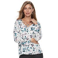 Women's Apt. 9® Criss-Cross Chiffon Top