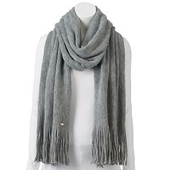 LC Lauren Conrad Brushed Knit Fringed Oblong Scarf