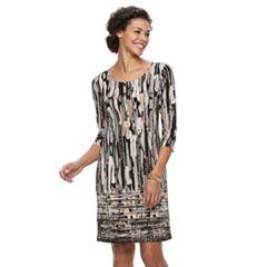 Women's Dana Buchman Scoopneck Shift Dress