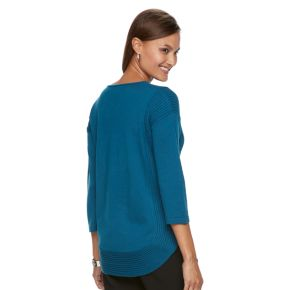 Women's Dana Buchman Curved-Hem Sweater