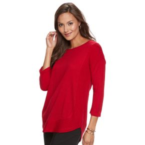 Women's Dana Buchman Curved-Hem Sweater