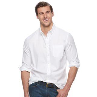 Big & Tall SONOMA Goods for Life™ Flexwear Slim-Fit Oxford Stretch Button-Down Shirt