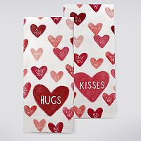 Celebrate Valentine's Day Together Conversation Hearts Kitchen Towel 2-pk.