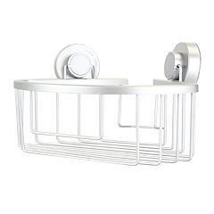 Home Basics Aluminum Corner Bath Caddy