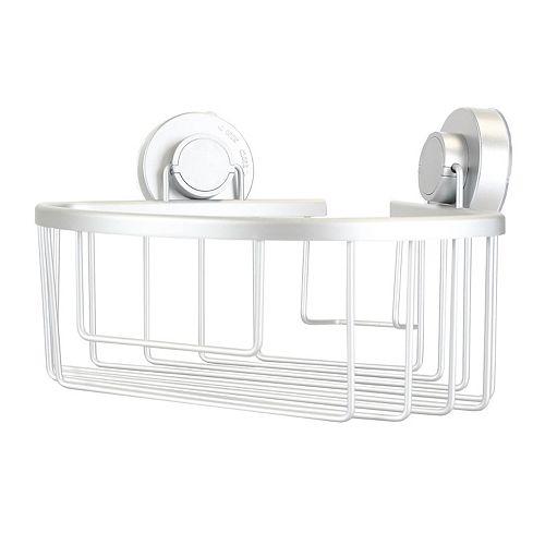 Home Basics Aluminum Corner Bath Caddy