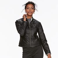 Women's Chaps Faux-Leather Jacket