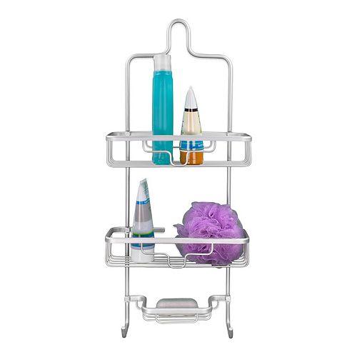 Home Basics 2-Tier Aluminum Shower Caddy