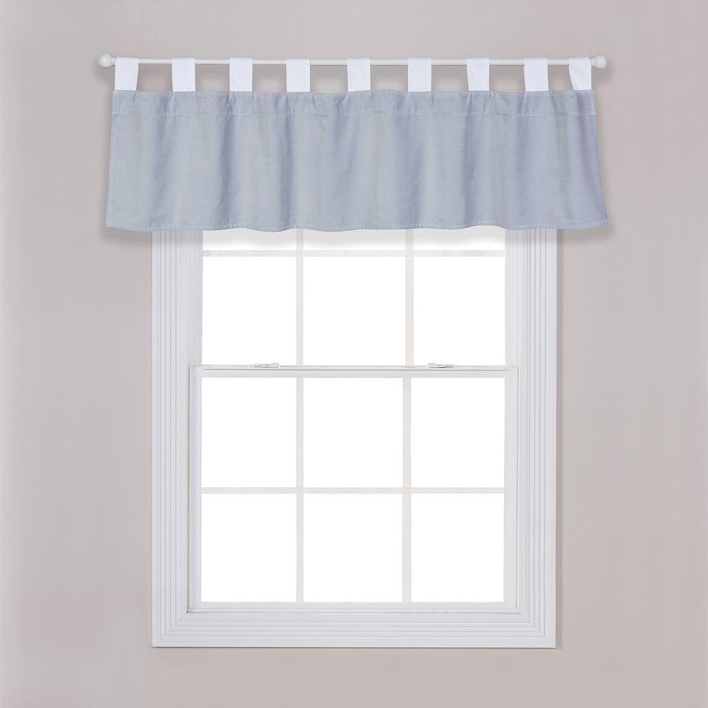 Trend Lab Gray Washed Velvet Window Valance