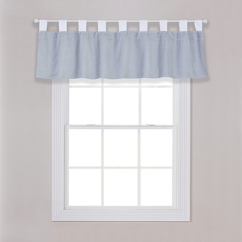 Trend Lab Gray Washed Velvet Window Valance