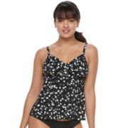 Women's Trimshaper Cara Bust Enhancer Dot Tankini Top
