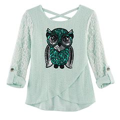 Girls 7-16 Miss Chievous Lace & Sequin Hatchi Tee