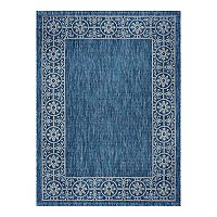 KHL Rugs Veranda Varrock Medallion Framed Indoor Outdoor Rug