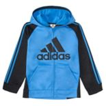 Boys 4-7x adidas Logo Striped Hooded Jacket