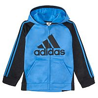 Boys 4-7x adidas Logo Striped Hooded Jacket