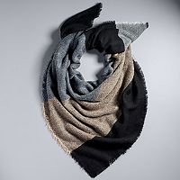 Simply Vera Vera Wang Colorblock Square Scarf