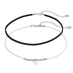 LC Lauren Conrad Beaded Disc Charm & Faux Suede Choker Necklace Set