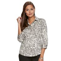 Women's Dana Buchman Button-Down Camp Shirt