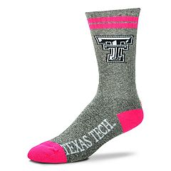 Adult For Bare Feet Texas Tech Red Raiders Crew Socks