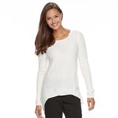 Women's Dana Buchman Shark-Bite Hem Sweater