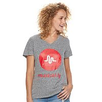 Juniors' musical.ly Logo Graphic Tee