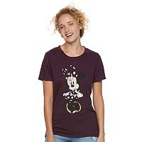 Disney's Minnie Mouse Juniors' High-Low Graphic Tee