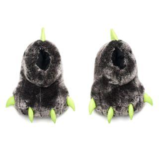 Boys Glow-In-The-Dark Bear Paw Slippers