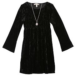 Girls 7-16 & Plus Size Speechless Velvet Dress with Necklace