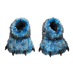 Boys Blue Bear Paw Slippers