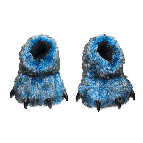 Boys Blue Bear Paw Slippers