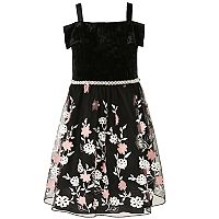 Girls 7-16 & Plus Size Speechless Off Shoulder Embroidered Flower Dress