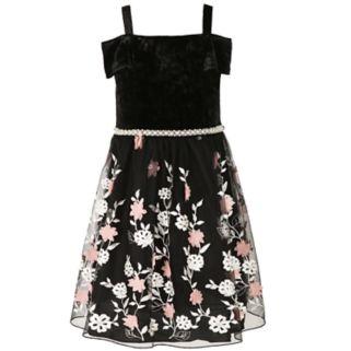 Girls 7-16 & Plus Size Speechless Off Shoulder Embroidered Flower Dress
