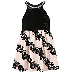 Girls 7-16 & Plus Size Speechless Flocked Rose Skirt Dress