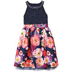 Girls 7-16 & Plus Size Speechless Glitter & Floral Dress