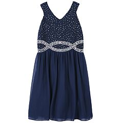 Girls 7-16 & Plus Size Speechless Glitter & Rhinestone Dress