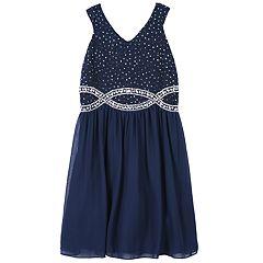 Girls 7-16 & Plus Size Speechless Glitter & Rhinestone Dress