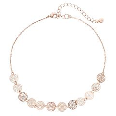LC Lauren Conrad Openwork Disc Choker Necklace