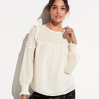 k/lab Smocked Yoke Top